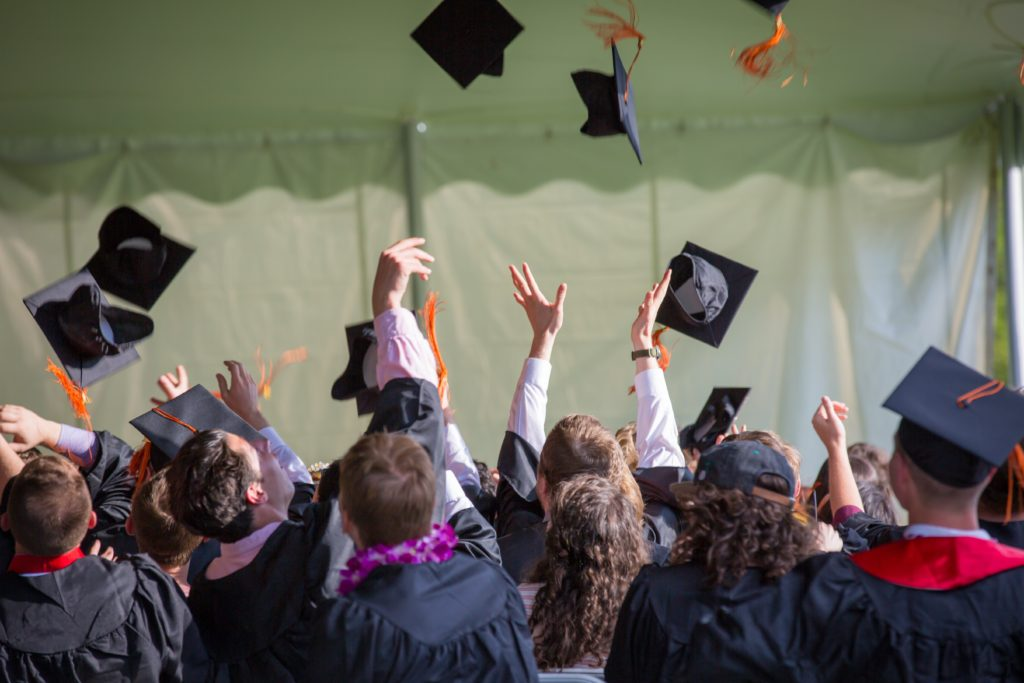 Students excited that they were able to graduate due to the freedom of having an income share agreement (ISA)